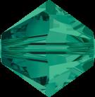 Swarovski Beads 5328 5mm XILION Bicone Emerald