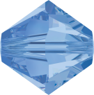 Swarovski Beads 5328 6mm XILION Bicone Light Sapphire