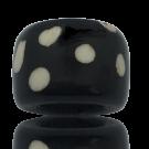 beenkralen 22mm groot gat zwart met stippen