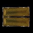 broches 38mm goud rechthoek metaal