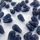 Druppel glaskralen kopen 15mm jeans blauw transparant