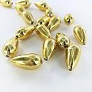 Druppel kunststof kralen 22mm goud