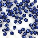 Facet kralen 8mm rond metallic blauw