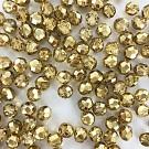 Facet kralen 8mm rond metallic goud