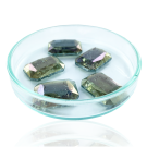Fancy stones glas 18mm groen ab coating transparant rechthoek