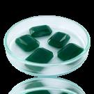 Fancy stones glas 18mm groen rechthoek