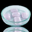 Fancy stones glas 18mm roze transparant rechthoek