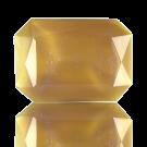 fancy stones 25mm bruin rechthoek glas