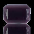 fancy stones 25mm paars rechthoek glas