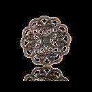 filigrain 22mm brons rond