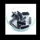 staafjes kralen 16mm zwart cilinder glas