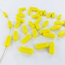 Glaskralen rechthoek 15mm geel