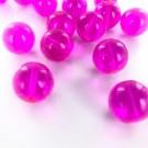 Glaskralen rond roze 16mm