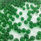 Glaskralen rond groen 6mm
