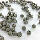 Glaskralen 7mm grijs opaque rond