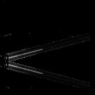 Glaskralen Staafjes 55mm zwart buisje