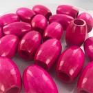 Hout kralen ton roze 32mm met groot gat