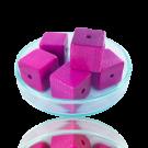 Houten kralen 14mm lichtpaars blokje