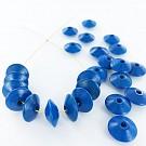 Houten kralen discus 12mm blauw