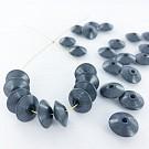 Houten kralen discus 12mm grijs