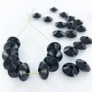 Houten kralen discus 12mm zwart