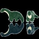 keramiek kralen 33mm groen Dinosaurus van keramiek groen