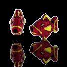 Keramiek kraal vis 12mm rood geel