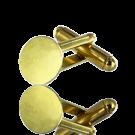 manchetknopen 10mm goud rond