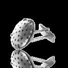 manchetknopen vintage19mm zilver rond