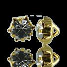 knopen strass 11mm goud rond 737