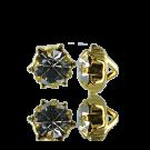 knopen strass 8mm goud rond