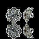 knopen strass 14mm zilver rond