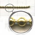 kogelketting 2mm goud rond