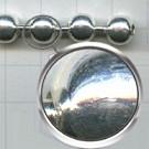 kogelketting 8mm zilver rond