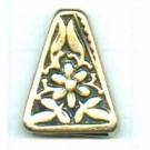 koppelstukken 19mm oudgoud driehoek