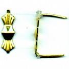 koppelstukken 5mm goud metaal