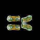 Krobo beads kralen Ghana 20mm groen ovaal