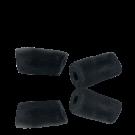 Krobo beads kralen Ghana 30mm zwart ovaal