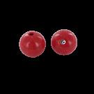 Kunststof kralen rond 21mm rood