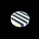 Kunststof kralen 34mm rond wit blauw