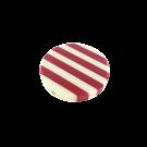 Kunststof kralen 34mm rond wit rood