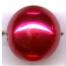 kunststof parels 16mm rood rond