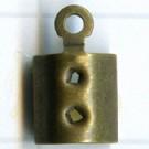 eindklemmen 4mm oudgoud rechthoek