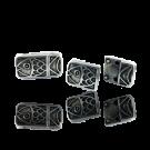 Magneetsluiting metaal 25mm oudzilver