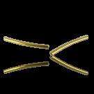 Metalen buisje 25mm goud gebogen