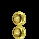 Metalen kraal groot gat 8mm goud rond