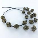 Metalen kralen spacer beads ovaal rond 10mm antiek goud