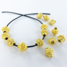 Metalen kralen spacer beads ovaal rond 10mm verguld