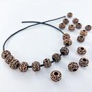Metalen kralen spacer beads rond 7mm koper
