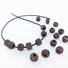 Metalen kralen spacer beads 8mm cilinder koper